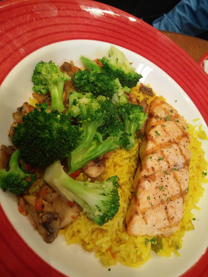 seven spiced herbed grilled salmon