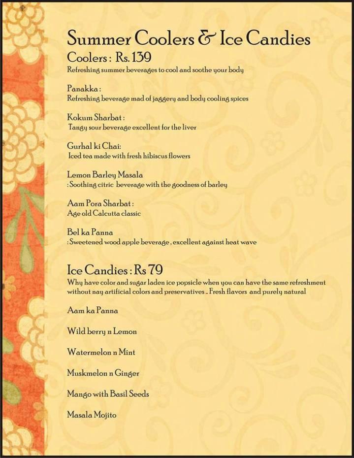 pranah menu